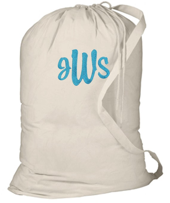 Personalized Dorm College Camp Laundry Bag Natural Free Shipping