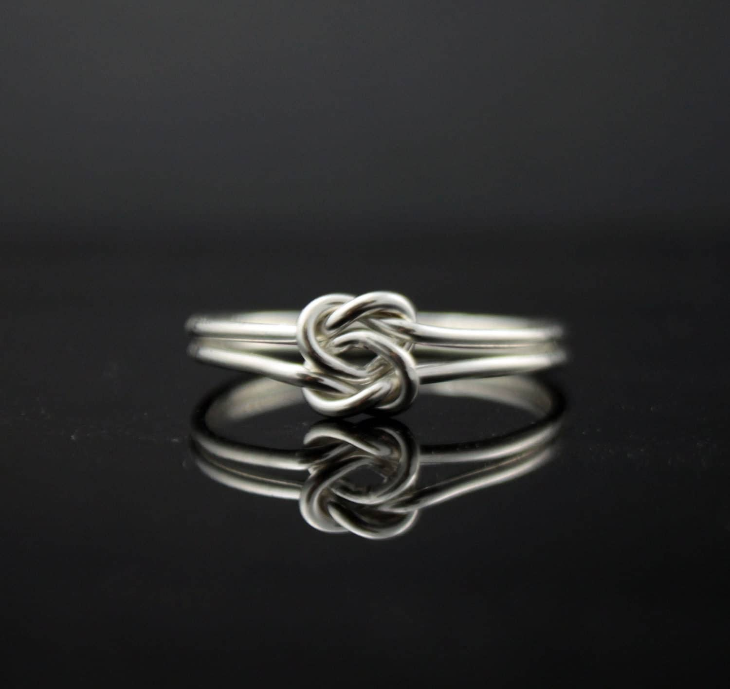 Infinity Knot Ring Etsy