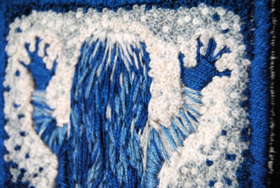 They're Here - OOAK Poltergeist embroidery