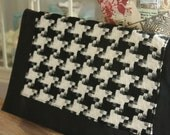 Vintage Purse - Giant Houndstooth Clutch