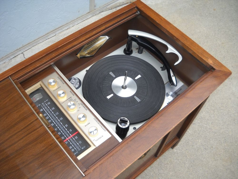 1960s Record player console stereo hi fi