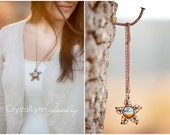 Vintage Style, Star Pendant Photo Necklace