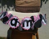 Minnie Mouse birthday high chair banner