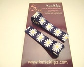 SALE NEW...Everyday Navy Blue Daisy Flower Clips - Set of 2 for 1.49 - D15