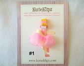 SALE - Pretty Ballerina Hair Clip...U Pick 1...Hairclip, Hair Accessory, Barrette, Clippie, 3D Ribbon Sculpture