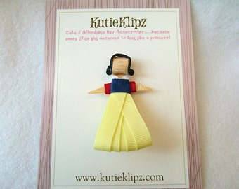 SALE - Snow White Disney Princess Inspired Ribbon Sculpture Hair Clip ...Hair Accessory ...Hairbow