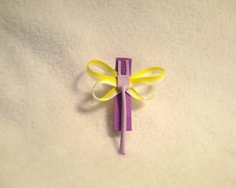 SALE - Lavender Imagination Dragonfly Hair Clip, Hairclip, Hair Bow, Hairbow, Hair Accessory, Ribbon Sculpture