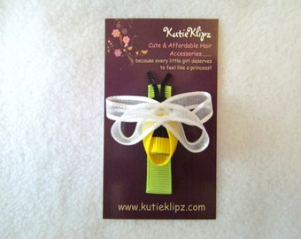 SALE - Bzzzz......Busy Bumble Bee Hair Bow, Hairbow, Hair Clip, Hairclip, Ribbon Sculpture
