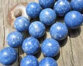 3 strands-- Blue Sponge Coral 10mm Round Ball beads-- 40pcs Full Strand