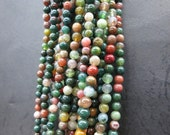 3 str -Green Indian Agate round ball beads 4mm -98pcs/Strand