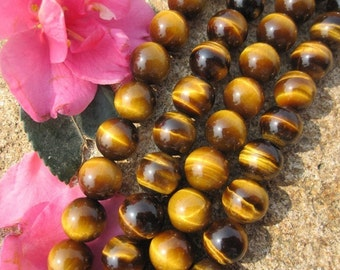 A grade tiger eye stone 8mm Round beads- 49pcs/Strand