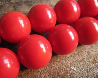 Wholesale--3x 34pcs Full Strand A Grade Red Bamboo Coral BIG 11MM Round loose beads