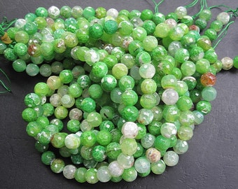 3 str -Spring Green Agate 10mm Round Beads- 38pcs/Strand
