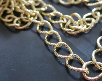 20 ft Gold Aluminum Jewelry Chains 7x10mm - K1814