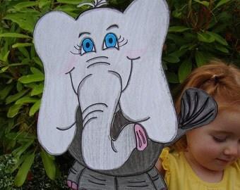 Elephant Puppet and Paper Craft - Hand Drawn Original