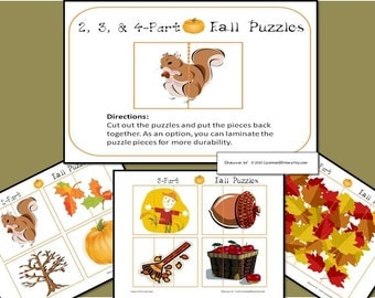 Printable Fall Puzzles for Children
