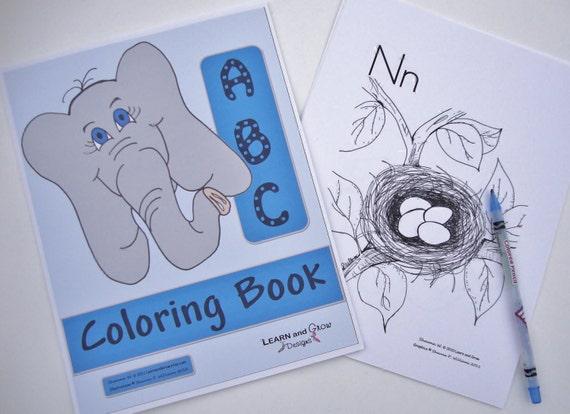 Printable Alphabet Coloring Book