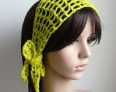 Gypsy style Crochet Hair band / short scarf in pear color OR choose and pick your own color