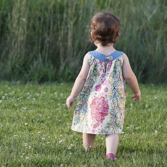The Gracie Dress-PDF Pattern, size 6M-5T, mamastellato
