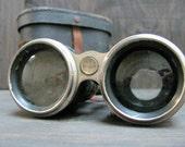 The Sea Shanty - Antique Military Binoculars w/ Inlaid Compass