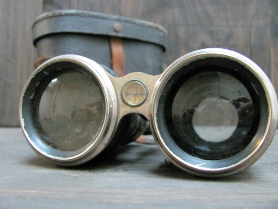 The Sea Shanty - Antique Military Binoculars w/ Inlaid Compass