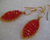 red Leaves earrings