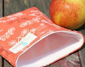 Reusable Sandwich Bag - Bicycles Handmade by Willow Handmade