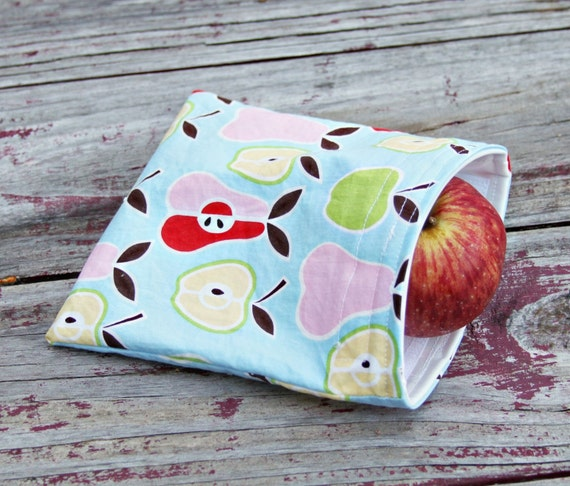Reusable Sandwich Bag - Apples and Pears Handmade by Willow Handmade