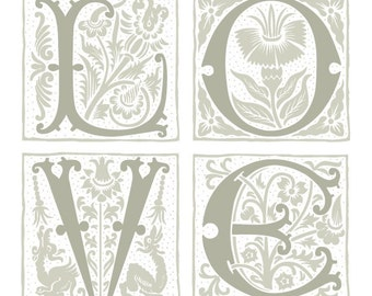 Love - Ornamental Art Print
