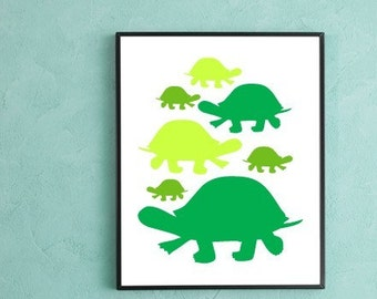 Turtle Family Poster