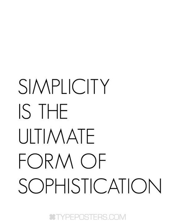 Simplicity Quote Typography Print