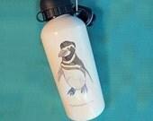CLEARANCE Penguin Water Bottle...reusable aluminum white 20 oz. penguin waterbottle
