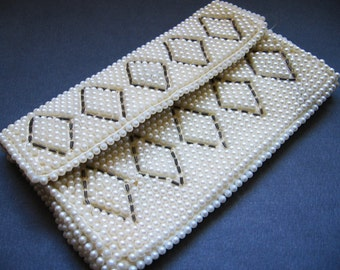 Faux Pearl Evening Bag