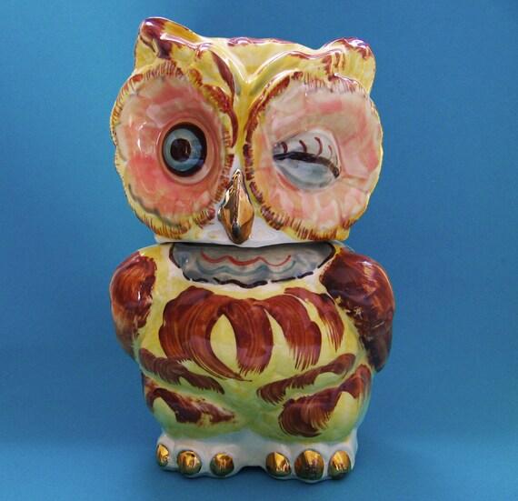 Owl Cookie Jar Shawnee Vintage 1940s