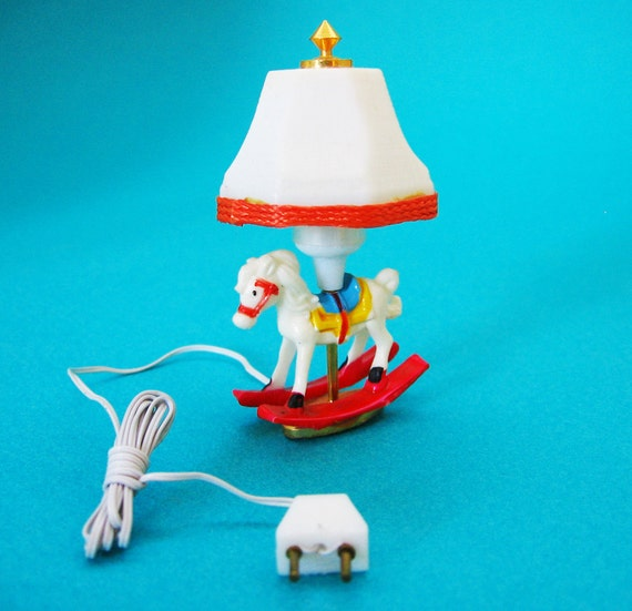 Rocking Horse Lamp Doll House Miniature By UncommonShop On