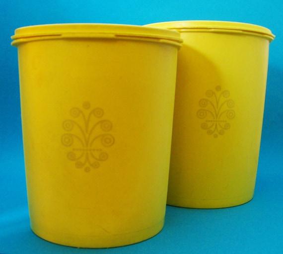 Tupperware Contaner Set - 2pc Yellow