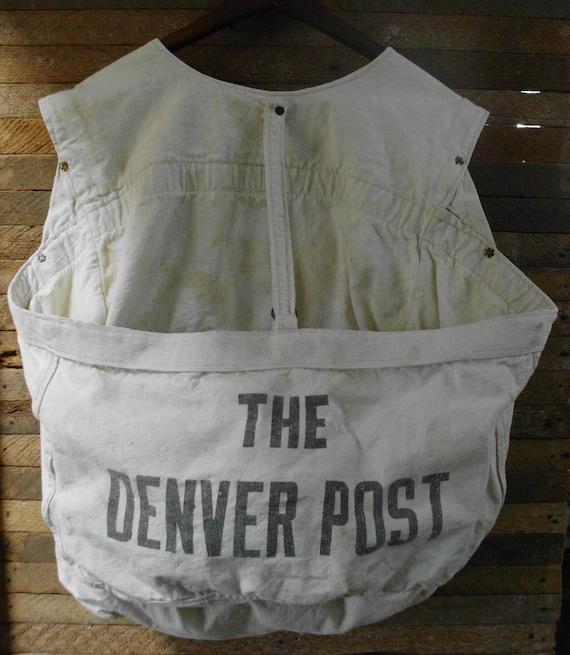 The Denver Post Antique Newspaper Paperboy Carrier Delivery