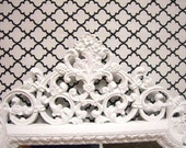 HOLLYWOOD REGENCY Syroco Shabby Mirror Glossy WHITE Wedding Ornate Mirrors by Dignfied Rubbish on Etsy