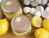 Mason jar gift labels - lemon - 12pc - regular or wide-mouth