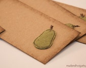 Gift tags - wooly green pear