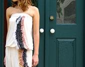 Cream Knit Ruffle Floor Length Boho Dress - Waterfall Knit Dress