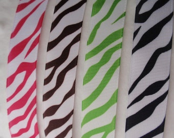Zebra Striped Pacifier/Toy Clip - You Pick the Color