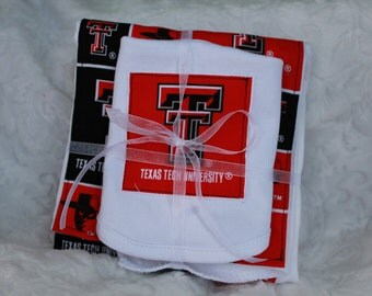 Texas Tech Burp Cloth & Bib Set