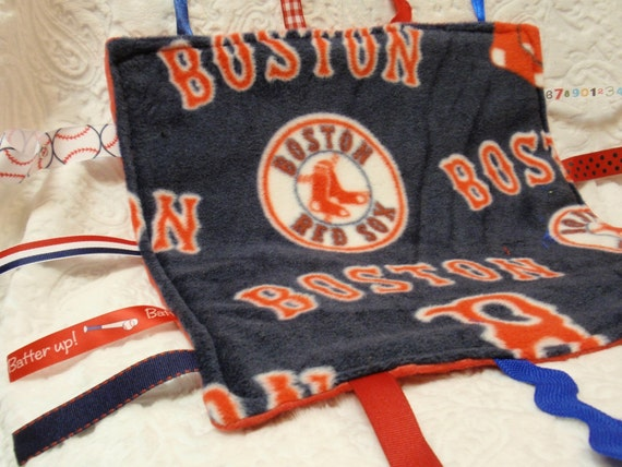 Boston Red Sox in Blue Blankie with Ribbons