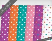 Hearts Paper Pack 01 - Printable PDF