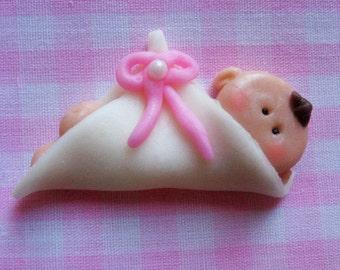 12 Baby Fondant Cupcake Toppers (EDIBLE)
