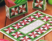 WATERMELON PINWHEEL Table Set - Plastic Canvas Summertime PATTERN
