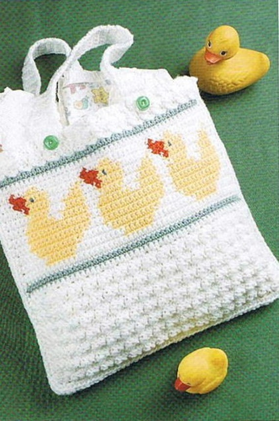Crochet Dice Bag Pattern : DUCKIE DIAPER BAG Crochet Pattern YELLOW DUCKS