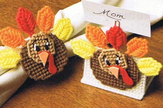 Gobble Gobble Turkey Plastic Canvas Thanksgiving Pattern