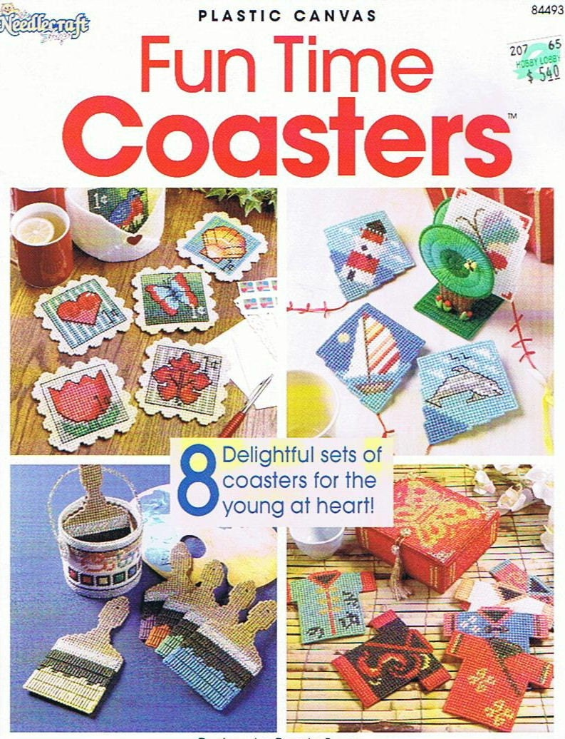 Fun Time Coasters Plastic Canvas Pattern Book